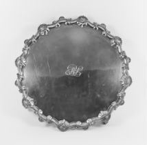A Late Victorian Large Silver Circular Salver, by Charles Stuart Harris London 1896, of shaped