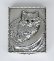 An Early 20th Century Austrian Silver Rectangular Box, possibly by Louis Kuppenheim, the lid