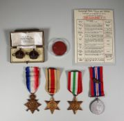 A Collection of British World War I and World War II Military Medals to Joseph Payne, including -