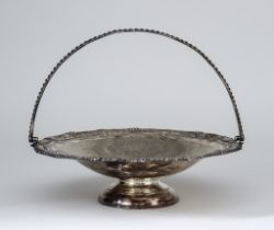 A Victorian Silver Circular Basket, by Albert Henry Thompson, Sheffield 1892, of shaped outline,