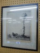 E. HERBERT WHYDALE - ETCHING AND A SELECTION OF OTHER NINETEENTH CENTURY AND LATER PRINTS VARIOUS