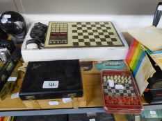 CHESS CHALLENGER ?7? ELECTRONIC CHESS GAME WITH MANUAL AND OTHER CONVENTIONAL CHESS SETS