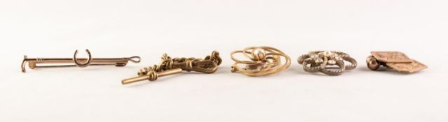 PAIR OF 9ct GOLD ON SILVER CUFF LINKS with floral engraved oblong tops and dumb-bell shaped