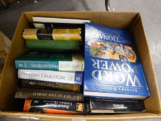 BOOKS, LARGE QUANTITY, TO INCLUDE; SCIENCE, REFERENCE AND HEALTH AND DIET (5 BOXES)