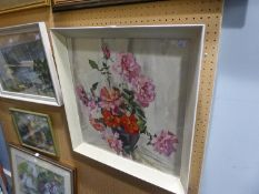 PHYLLIS HIBBERT (TWENTIETH CENTURY)WATERCOLOUR 'FLOWERS IN A VASE'SIGNED LOWER RIGHTLABELLED VERSO