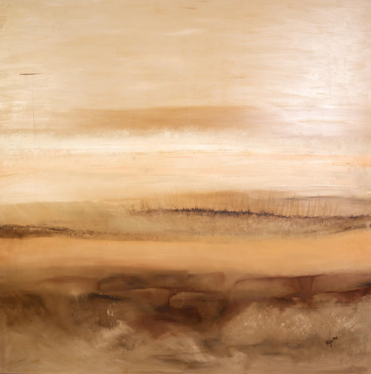 VILJA (MODERN, AUSTRALIAN) OIL ON BOARD Abstract Landscape Signed and dated (19)84 47 ½? x 47 ½? (