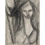 GOLDA ROSE (1921-2016) GRAPHITE Female portrait Signed 11 ¼? x 8 ¾? (28.6cm x 22.2cm) C/R-good