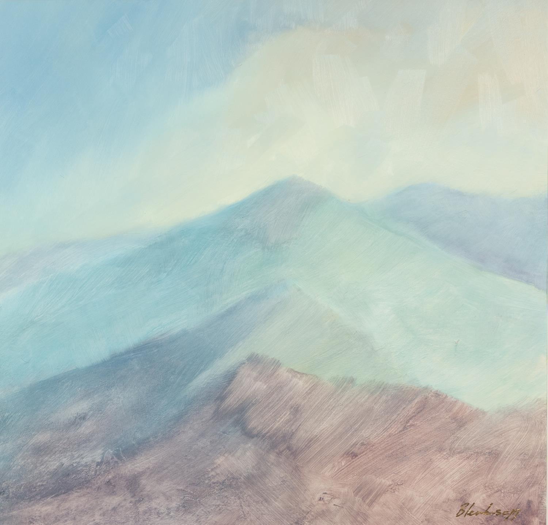 BLENKINSOPP (MODERN) ACRYLIC ON PAPER Hills and Ridges Signed 22? x 23? (56cm x 58.4cm) C/R-good