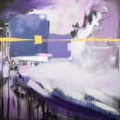 JEN ALLEN (MODERN) OIL ON CANVAS ?For the Time? Signed 48? x 48? (122cm x 122cm) C.R-image good, the