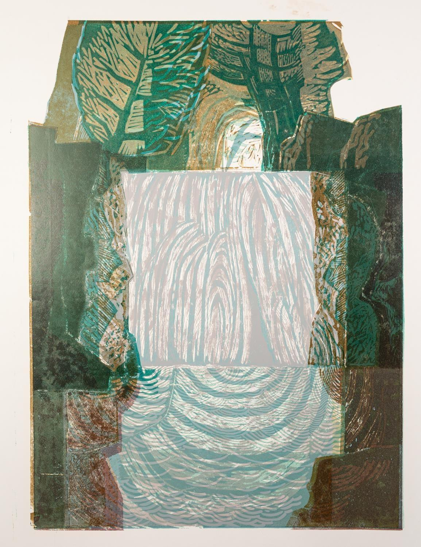 NORMAN JAQUES (1922-2014) TWO COLOUR PRINTS Lakeland Cube, (6/10) 26? x 18? (66cm x 45.7cm) - Image 2 of 2