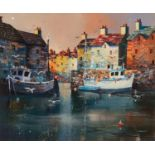 NICK POTTER (b.1959) ARTIST SIGNED LIMITED EDITION COLOUR PRINT ?Evening Shelter?, (50/150), with