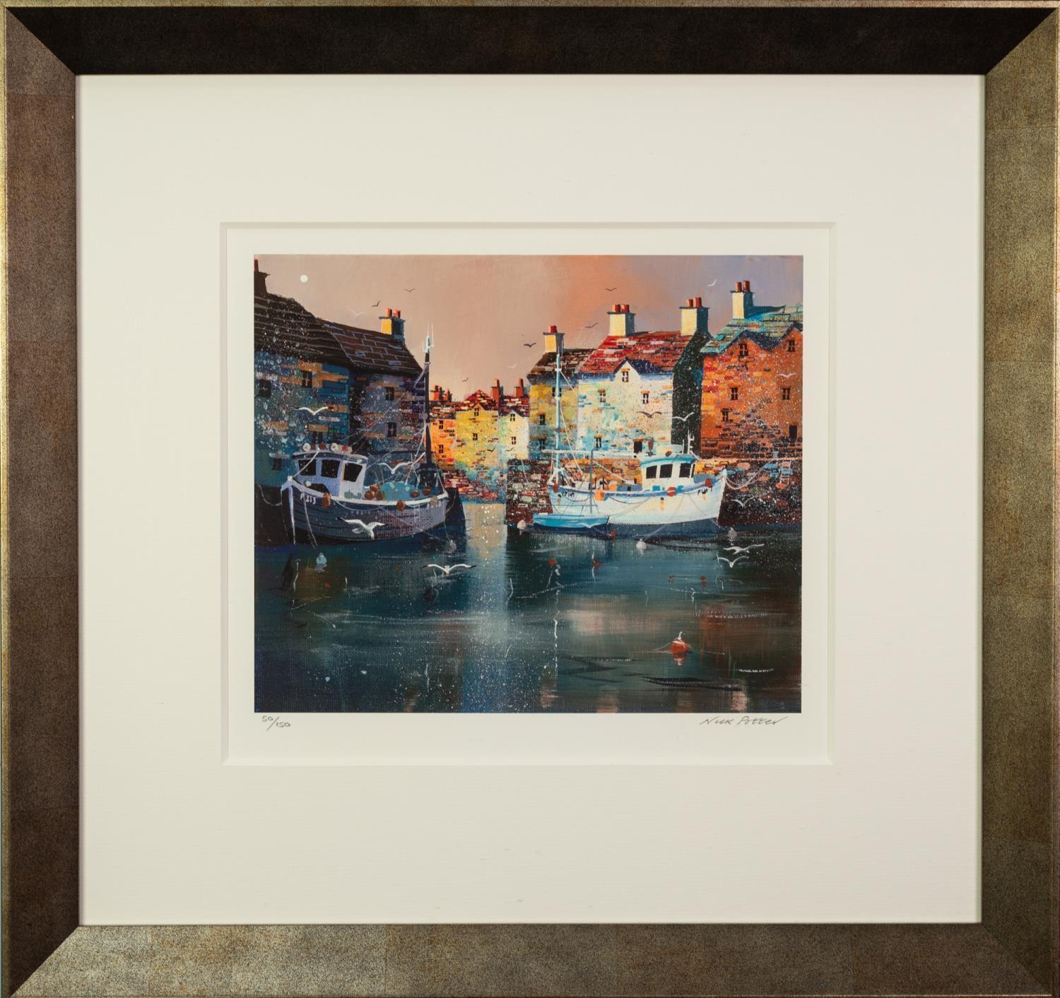 NICK POTTER (b.1959) ARTIST SIGNED LIMITED EDITION COLOUR PRINT ?Evening Shelter?, (50/150), with - Image 2 of 2