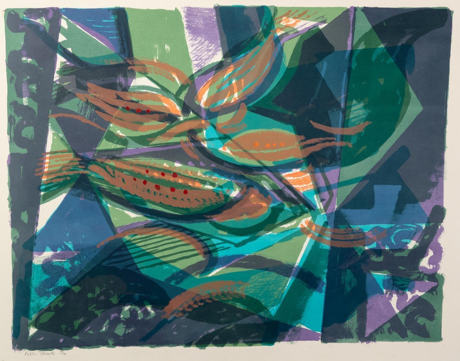 NORMAN JAQUES (1922-2014) TWO COLOUR PRINTS?Autumn?, (17/20), Signed Artist Proof ?Fish Tank?, (10/