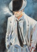 FABIAN PEREZ (b.1967) WATERCOLOUR ?Man in White Suit IV? Signed, titled to label verso 16? x 12? (