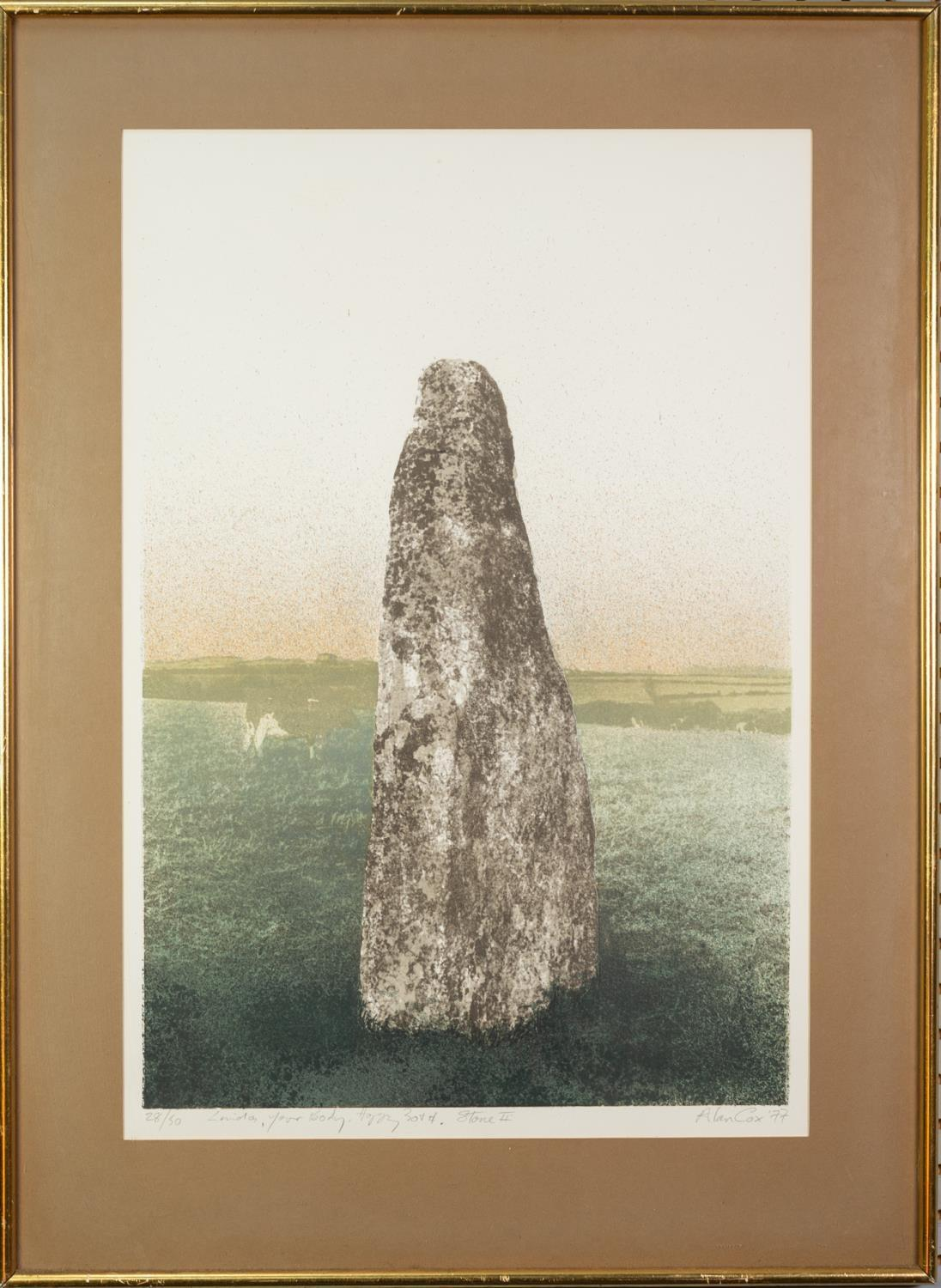 ALAN COX (b.1941) ARTIST SIGNED LIMITED COLOUR PRINT ?Stone II?, (28/50), dated (19)77 21? x 14? ( - Image 2 of 2