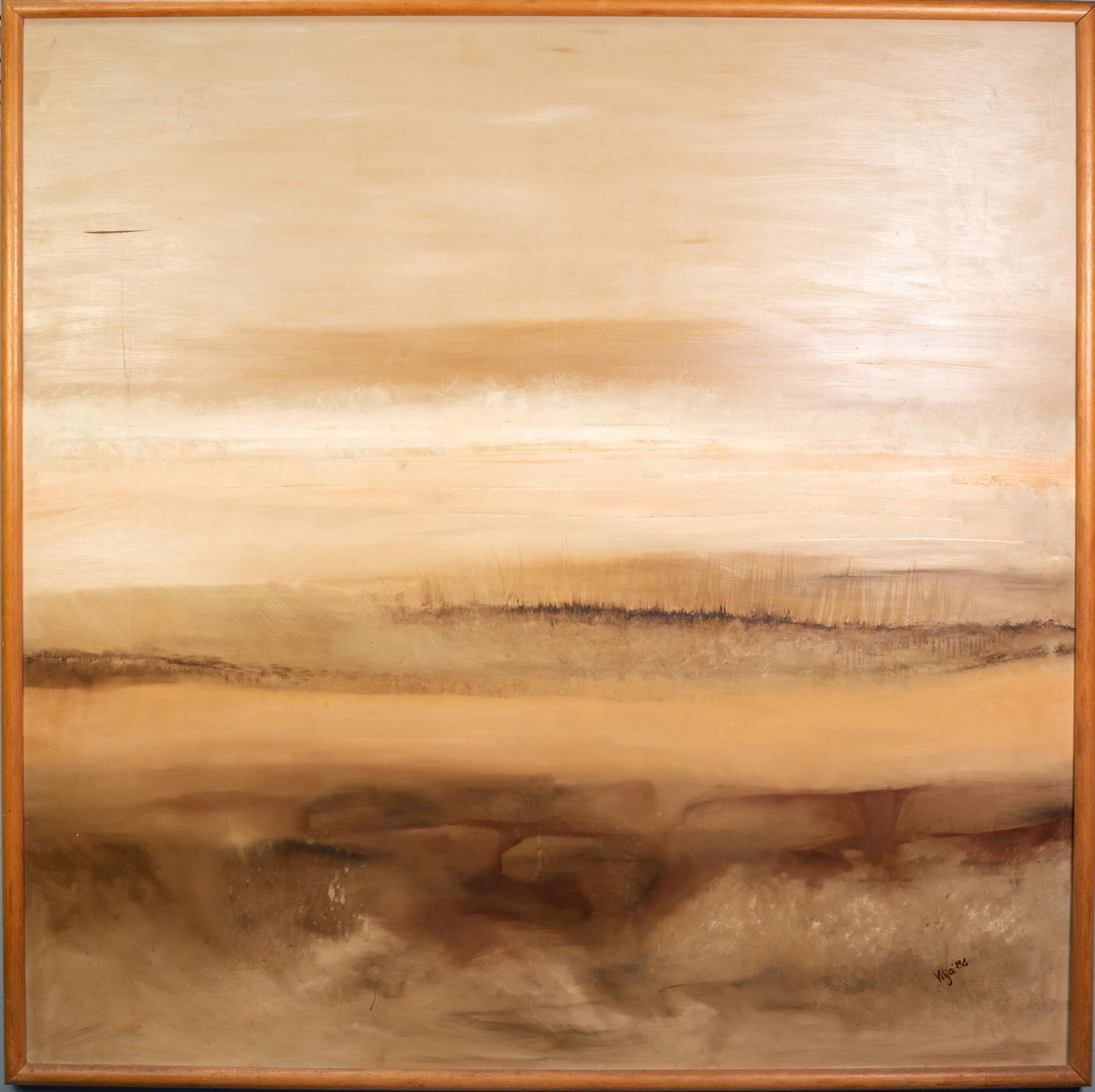 VILJA (MODERN, AUSTRALIAN) OIL ON BOARD Abstract Landscape Signed and dated (19)84 47 ½? x 47 ½? ( - Image 2 of 2