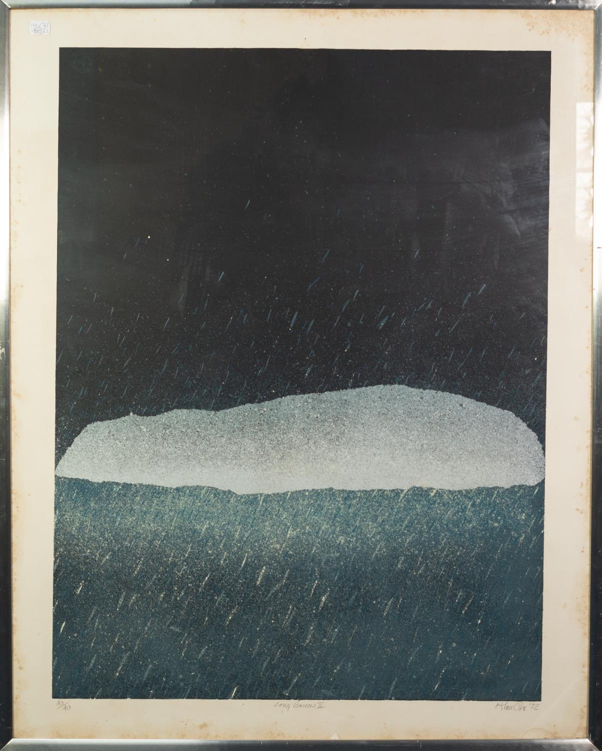 ALAN COX (b.1941) ARTIST SIGNED LIMITED COLOUR PRINT ?Long Barrow II?, (40/40), dated (19)72 31? x - Image 2 of 2