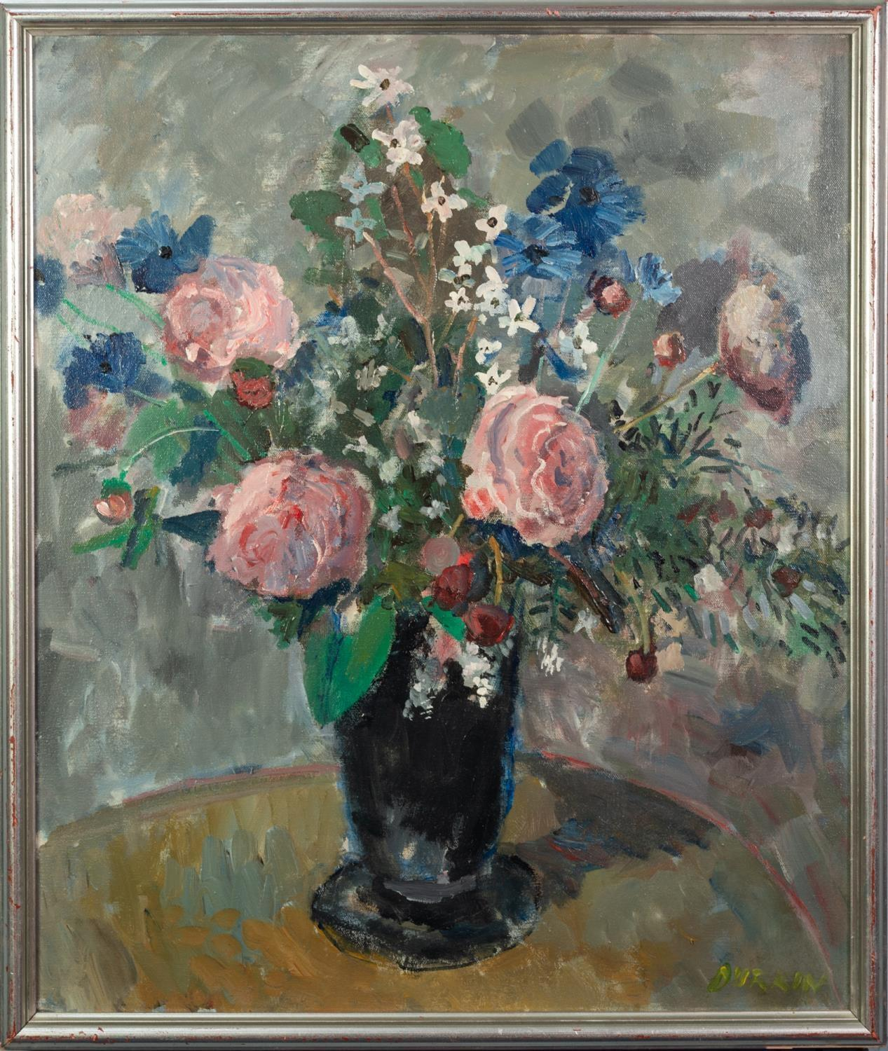 THOMAS DURKIN (1928-1990) OIL ON CANVAS Still Life-vase of flowers Signed 24? x 20? (61cm x 50. - Image 2 of 2