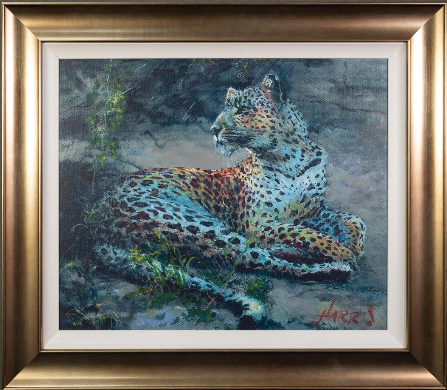 ROLF HARRIS (b.1930) ARTIST SIGNED LIMITED EDITION COLOUR PRINT ON CANVAS ?Leopard Reclining at - Image 2 of 2