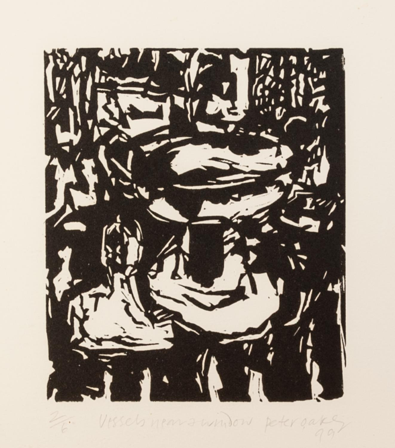 PETER OAKLEY (1935-2007) SEVEN ARTIST SIGNED LIMITED EDITION BLACK AND WHITE WOODCUTS OF SIMILAR - Image 2 of 8