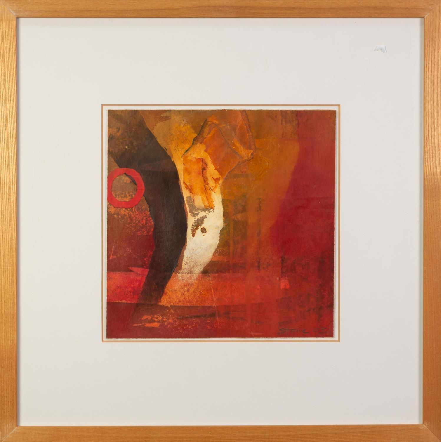 PAUL STONE (b.1938) MIXED MEDIA ON PAPER ?Measure? Signed and dated (20)03, titled verso 10? x - Image 2 of 2