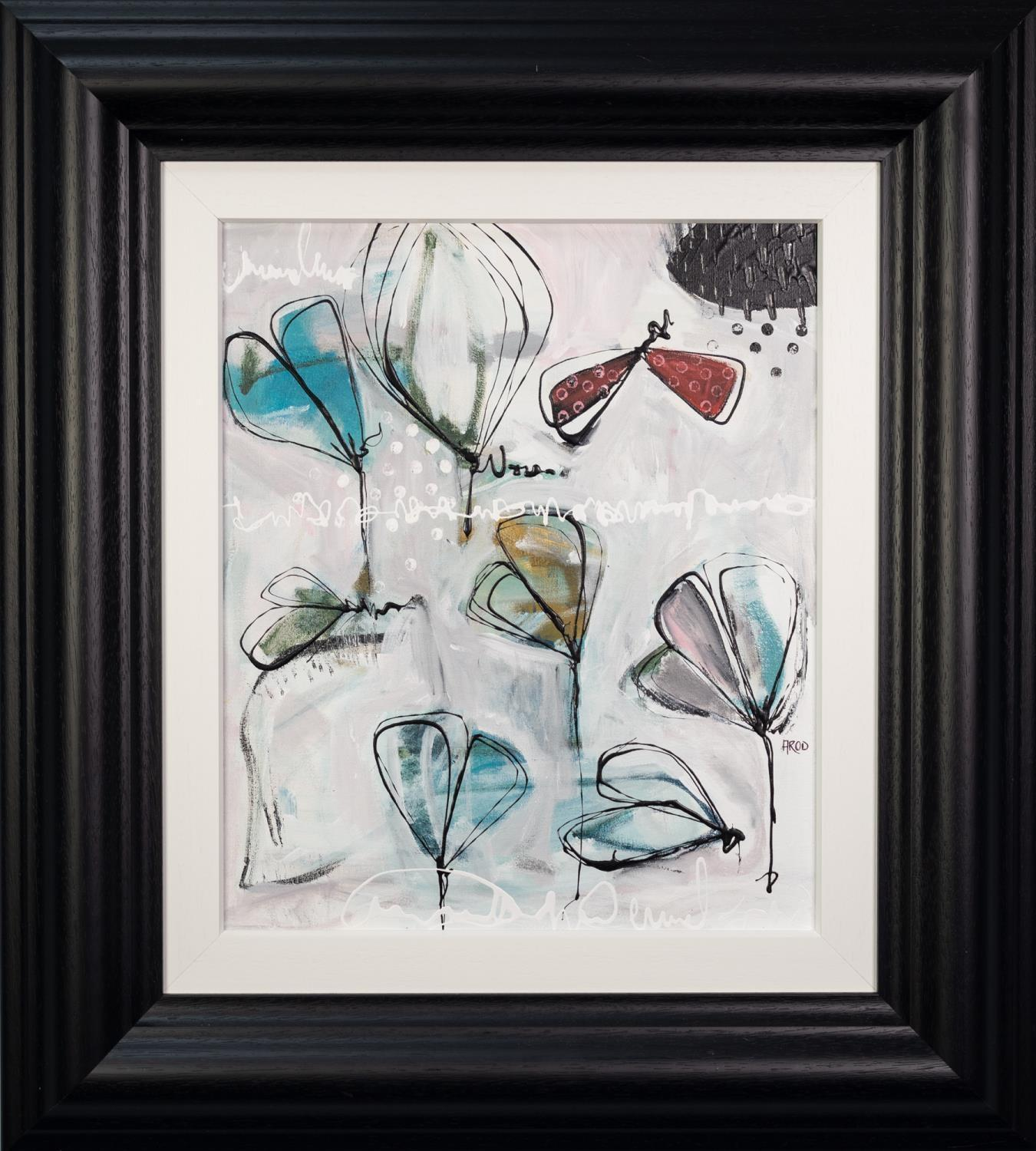 ANNIE RODRIGUE (MODERN) MIXED MEDIA ON CANVAS ?Bleu III? Signed, titled to label verso 20? x 16? ( - Image 2 of 2