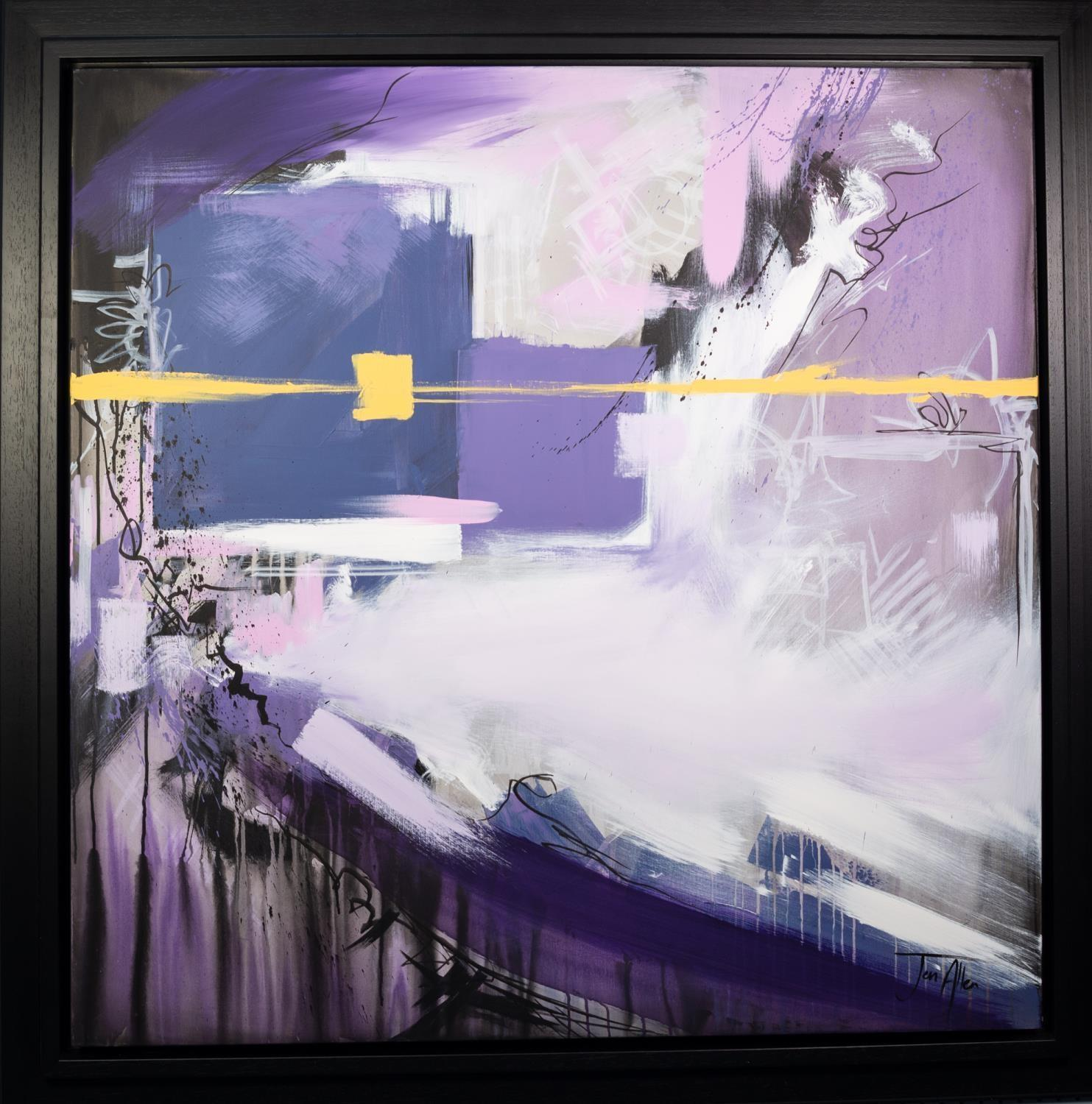 JEN ALLEN (MODERN) OIL ON CANVAS ?For the Time? Signed 48? x 48? (122cm x 122cm) C.R-image good, the - Image 2 of 2