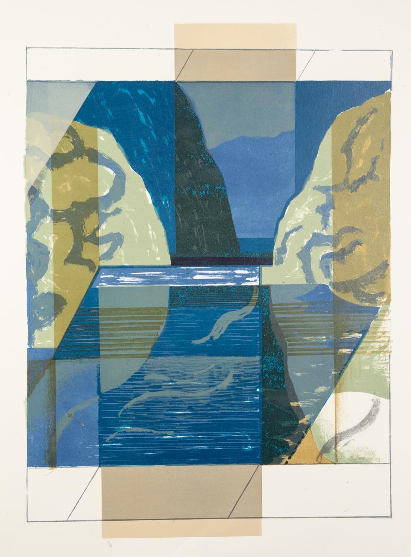 NORMAN JAQUES (1922-2014) TWO COLOUR PRINTS Lakeland Cube, (6/10) 26? x 18? (66cm x 45.7cm)