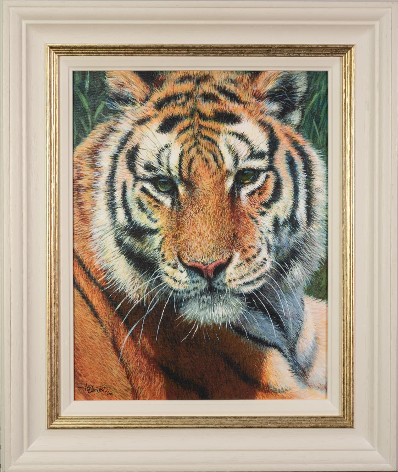 TONY FORREST (b.1961) ARTIST SIGNED LIMITED EDITION COLOUR PRINT ?Wild Thing?, (13/195), with - Image 2 of 2