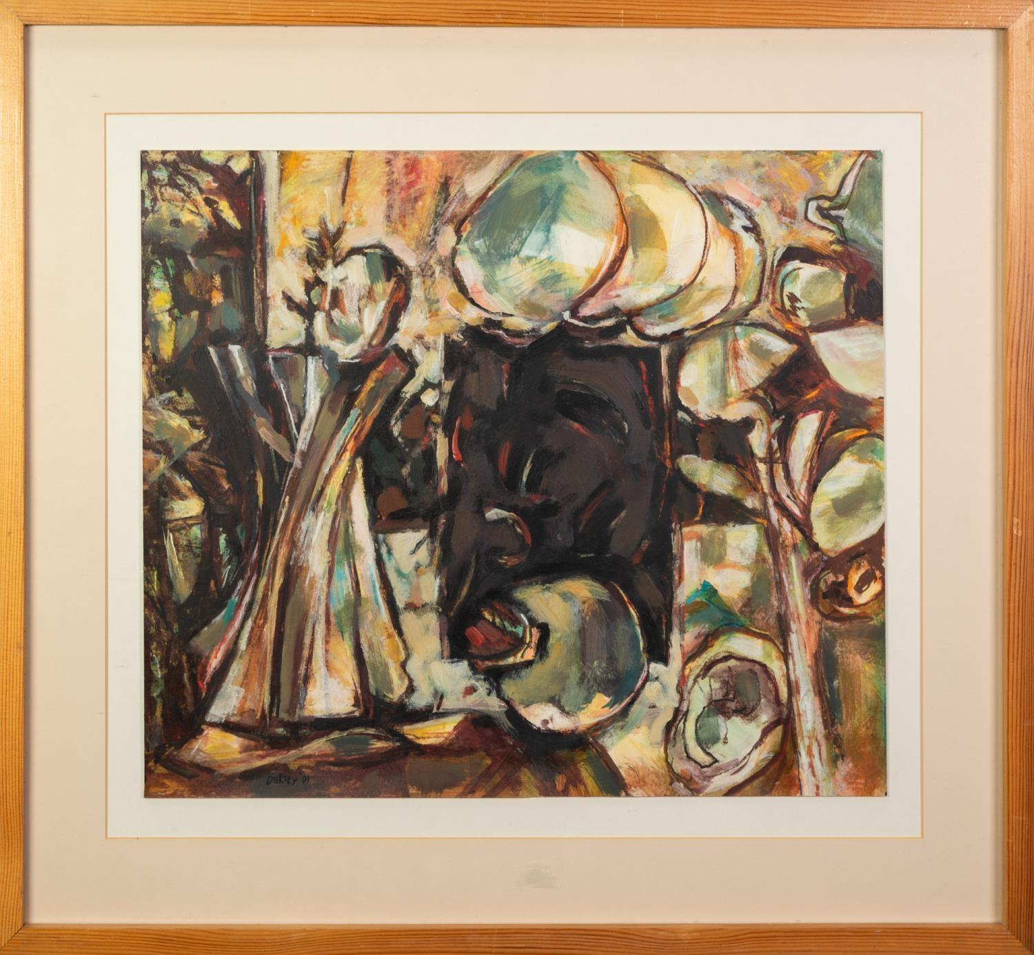 PETER OAKLEY (1935-2007) MIXED MEDIA ON PAPER ?Treasure of Zer? Signed and dated (20)01 16 ¼? x - Image 2 of 2