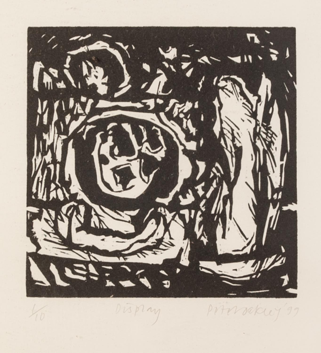 PETER OAKLEY (1935-2007) SEVEN ARTIST SIGNED LIMITED EDITION BLACK AND WHITE WOODCUTS OF SIMILAR - Image 7 of 8