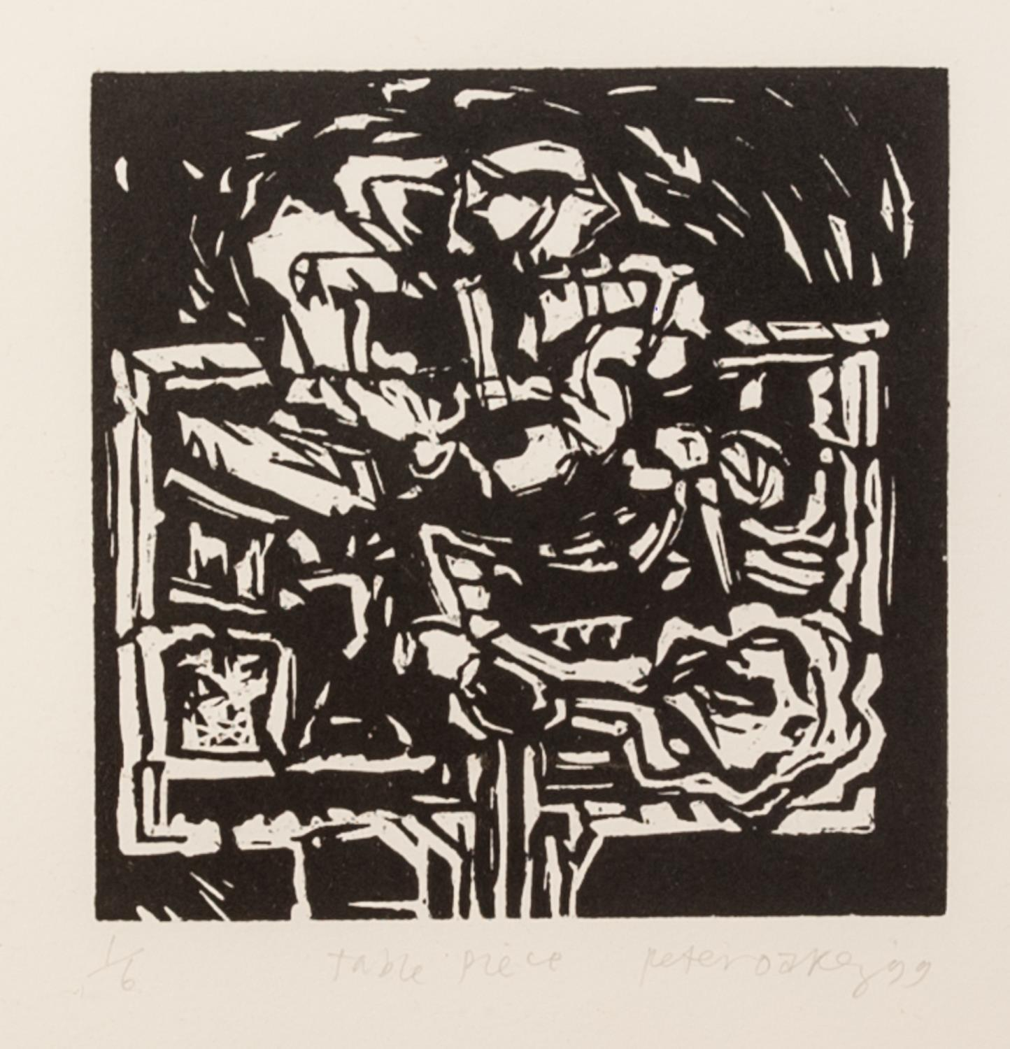 PETER OAKLEY (1935-2007) SEVEN ARTIST SIGNED LIMITED EDITION BLACK AND WHITE WOODCUTS OF SIMILAR - Image 5 of 8