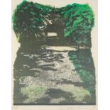 IVOR ABRAHAM (1935-2015) ARTIST SIGNED PROOF COLOURED LITHOGRAPH Tree lined avenue, dated (19)75 16?