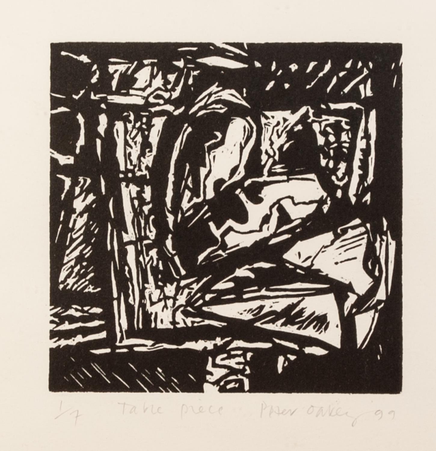 PETER OAKLEY (1935-2007) SEVEN ARTIST SIGNED LIMITED EDITION BLACK AND WHITE WOODCUTS OF SIMILAR - Image 4 of 8