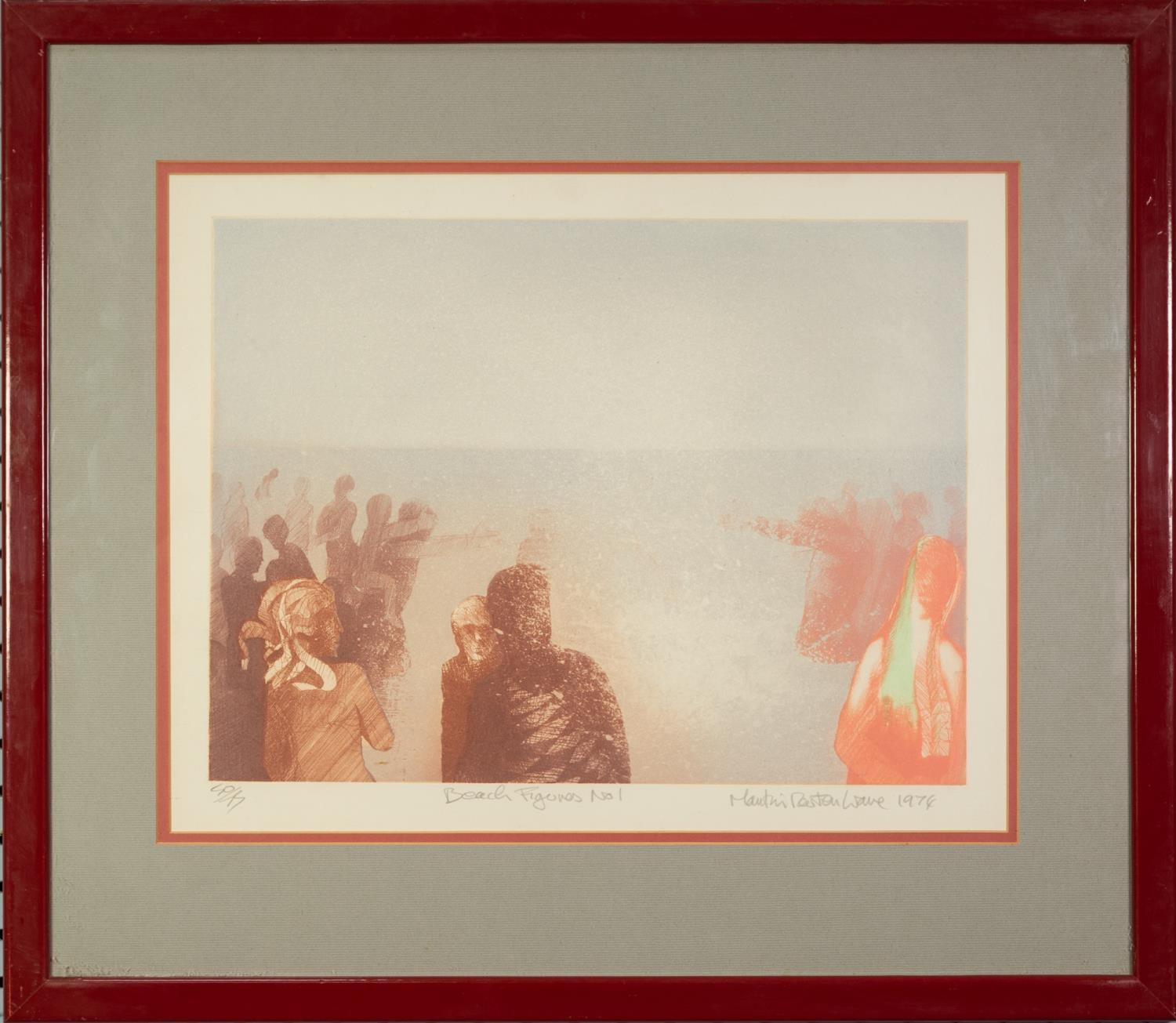 MARTIN WAVE (MODERN) ARTIST SIGNED LIMITED EDITION COLOUR PRINT ?Beach Figures No 1?, (50/75) 12? - Image 2 of 2