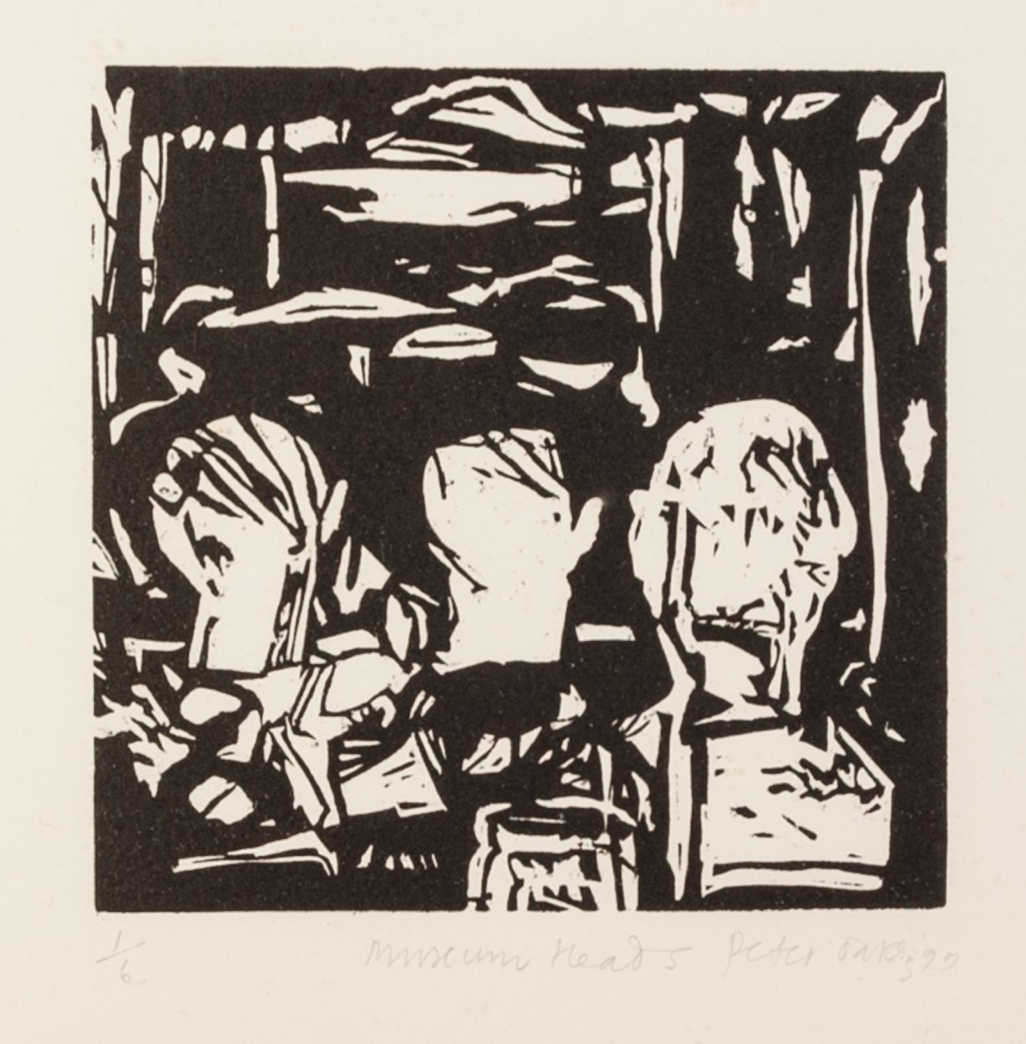 PETER OAKLEY (1935-2007) SEVEN ARTIST SIGNED LIMITED EDITION BLACK AND WHITE WOODCUTS OF SIMILAR - Image 8 of 8
