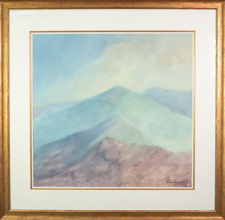 BLENKINSOPP (MODERN) ACRYLIC ON PAPER Hills and Ridges Signed 22? x 23? (56cm x 58.4cm) C/R-good - Image 2 of 2