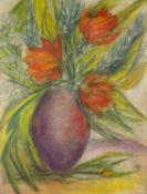GOLDA ROSE (1921-2016) MIXED MEDIA ON BOARD Still Life-vase of flowers Signed 24 ½? x 18 ½? (62.