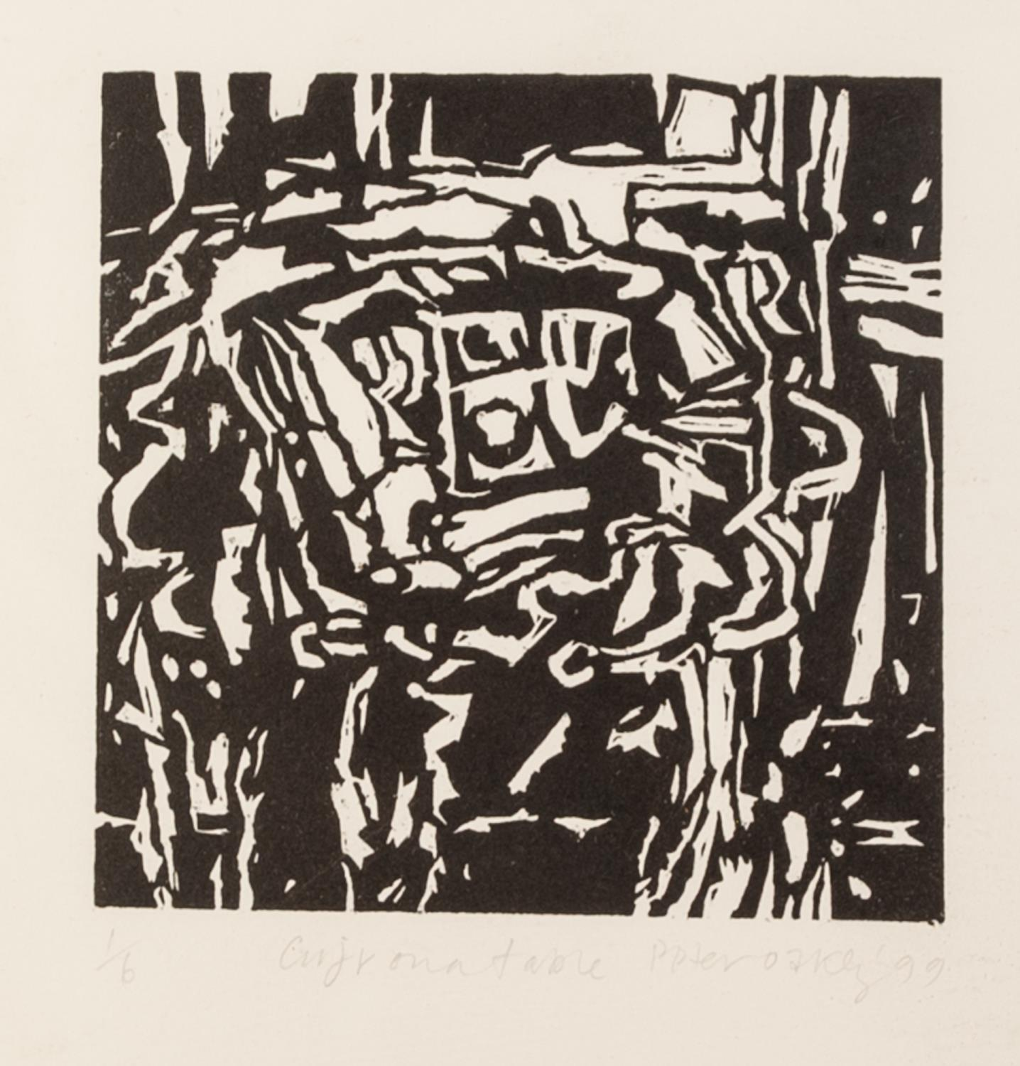PETER OAKLEY (1935-2007) SEVEN ARTIST SIGNED LIMITED EDITION BLACK AND WHITE WOODCUTS OF SIMILAR - Image 6 of 8
