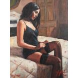 FABIAN PEREZ (b.1967) ARTIST SIGNED LIMITED EDITION COLOUR PRINT ?Kayleigh at the Ritz III?, (121/