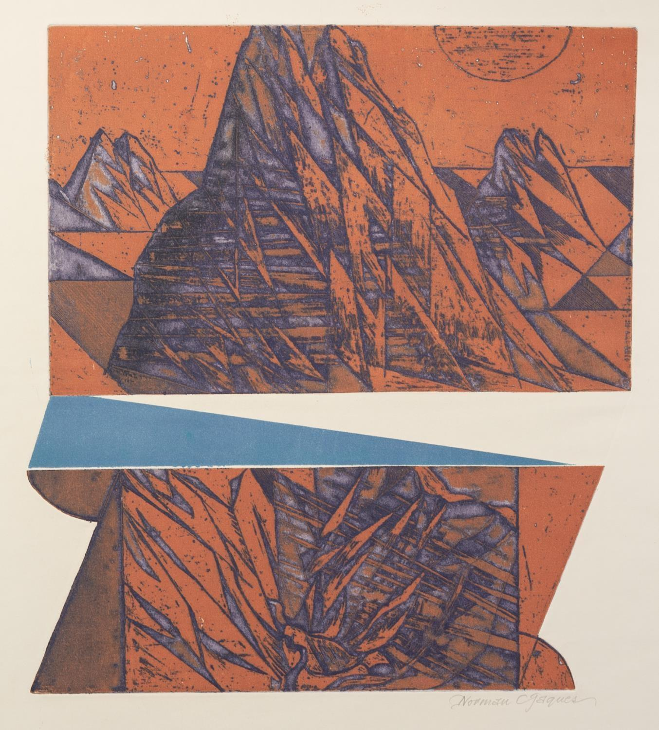 NORMAN JAQUES (1922-2014) TWO ARTIST SIGNED ETCHINGS Mid West, USA 17 ½? x 13 ½? (44.4cm x 34.3cm) - Image 2 of 2