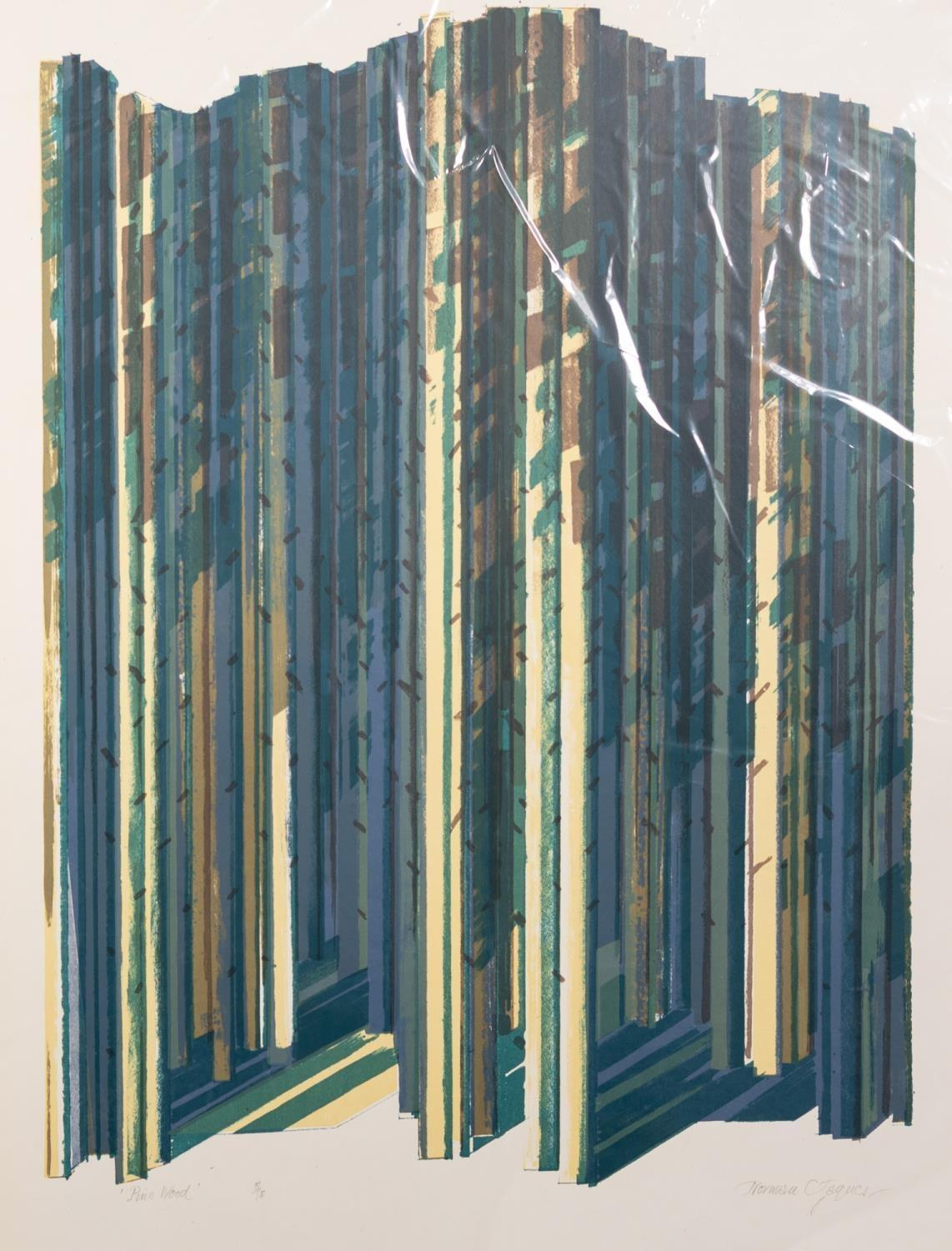 NORMAN JAQUES (1922-2014) TWO ARTIST SIGNED LIMITED EDITION COLOUR PRINTS ?Pine Wood?, (5/15)? - Image 2 of 2