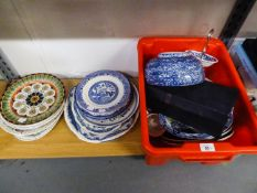 BLUE AND WHITE 'HOLLAND' TEA CUP AND SAUCER SET (BOXED), W.H. GRINDLEY AND CO., LTD BLUE AND WHITE