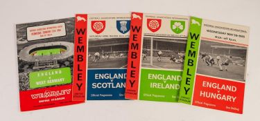 FOUR ENGLAND HOME PROGRAMMES, v West Germany February 1966, v Scotland 1965, v Northern Ireland 1965