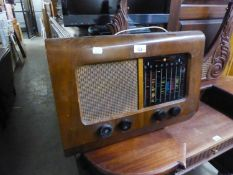A PYE VALVE RADIO AND A CROWN STEREO MUSIC CENTRE (2)