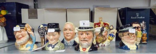 TEN SMALL SIZE MODERN BOXED ROYAL DOULTON CHARACTER JUGS (10)