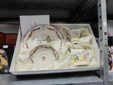 SET OF FOUR BOXED MODERN ROYAL DOULTON ARCHIVES PASTIME SERIES 'FOUR SEASONS'  FOUR PIECE TEASETS