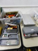 TWO DREMEL BOXES CONTAINING DREMEL DRILL BITS (INCOMPLETE), OTHER POLISHING DRILL BITS VARIOUS,