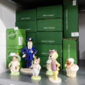 TWENTY FOUR MODERN BESWICK BEATRIX POTTER AND OTHER CERAMIC CHARACTER FIGURES, BOXED (24)