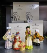 TWELVE MODERN ROYAL DOULTON MINIATURE STREET VENDORS, BOXED (12)